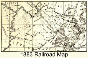 1883 Map Of RR and roads